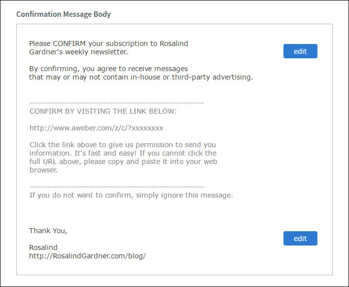 Email Marketing Confirmed Opt-in