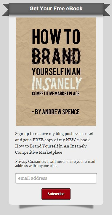 Andrew Spence Email Sign Up