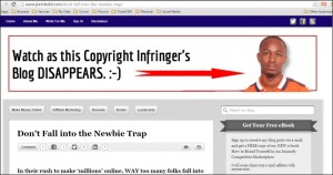 Watch this Copyright Infringing Site Disappear