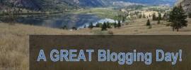 A Good Blogging Day