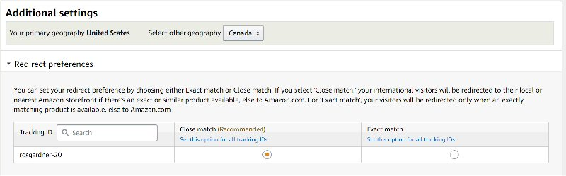 Amazon OneLink Close Match