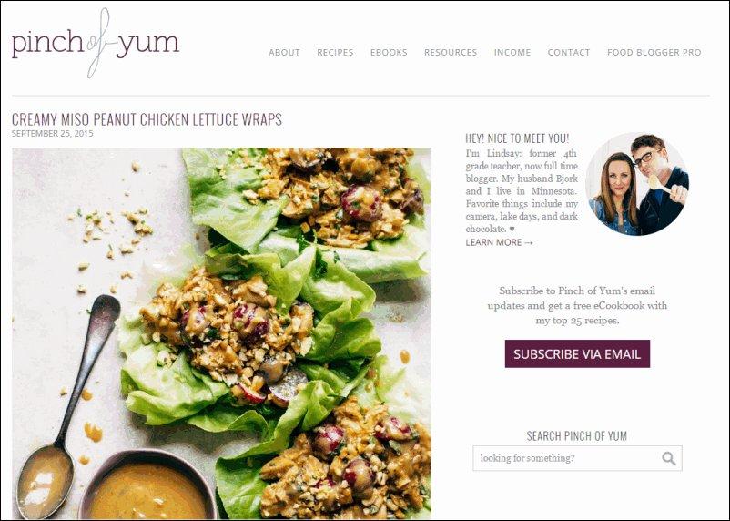 Pinch of Yum Food Blog