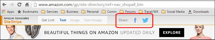 Amazon Social Media Affiliate Links