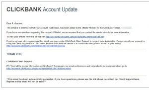 Clickbank Whitelist Invitation: Can You Spot the Problem?