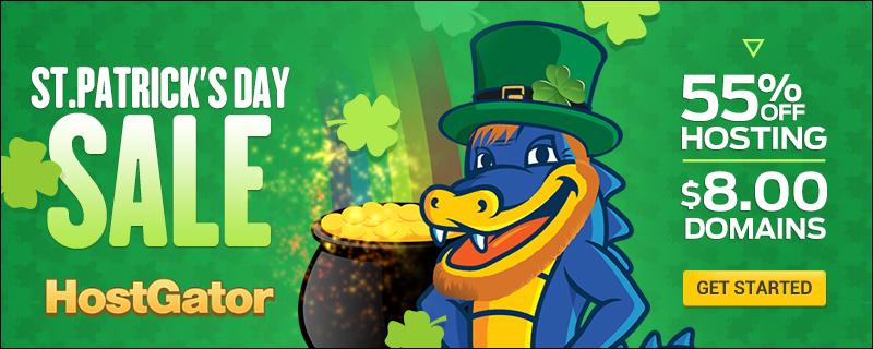 HostGator St. Patrick's Day Sale
