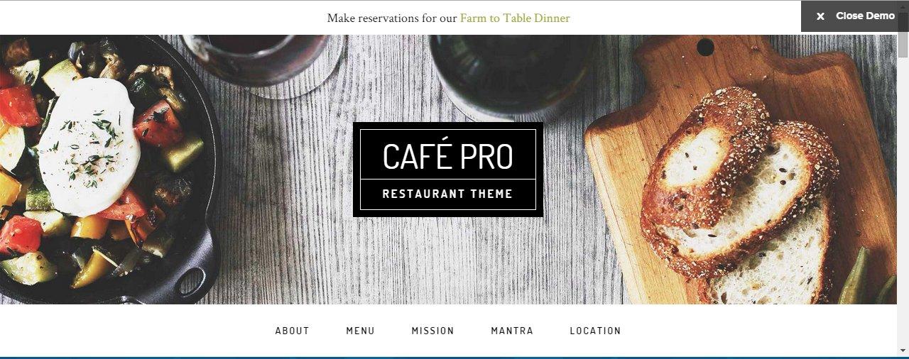 Cafe Pro by Studiopress