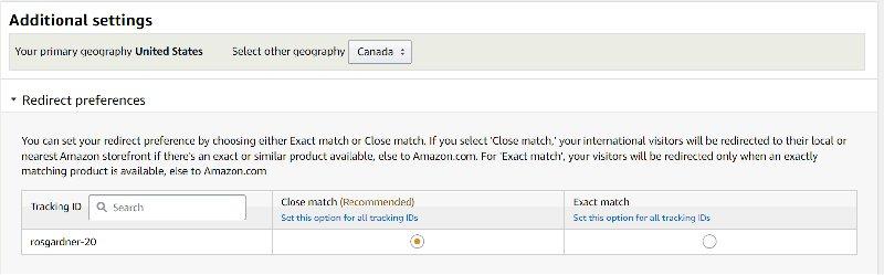Amazon OneLink Close Match
