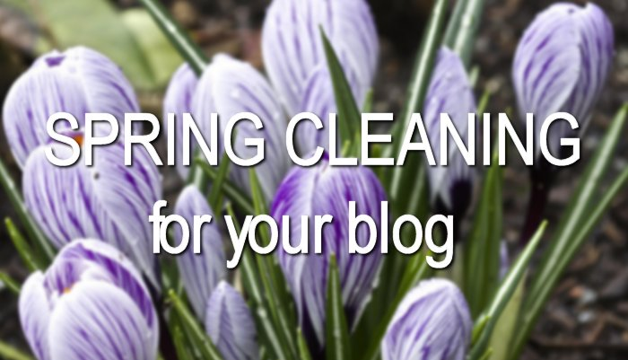 Spring Cleaning for Your Blog