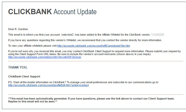 Clickbank Whitelist